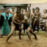 A Black Japanese Sumo Wrestler