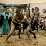 A Black Japanese Sumo Wrestler