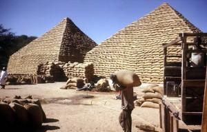 hausa-Kemetic groundnut pyramid pile