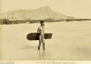 Hawaiian surfer 1890