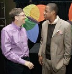 Bill Gates and Jay Z at the MSN Strategic Account Summit in Redmond, Washington on May 3, 2006