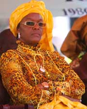 Grace Mugabe, Wife of President of Zimbabwe