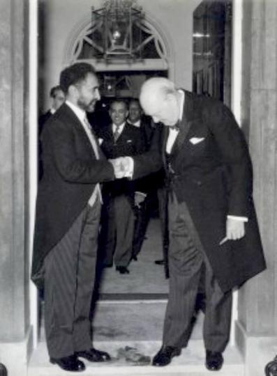 Emperor Selassie meets Winston Churchill | Rasta Livewire
